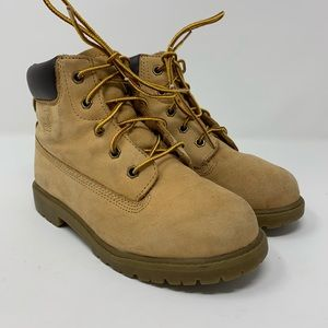 Sperry Kids Tan Leather Work Boots Boys Size 1W